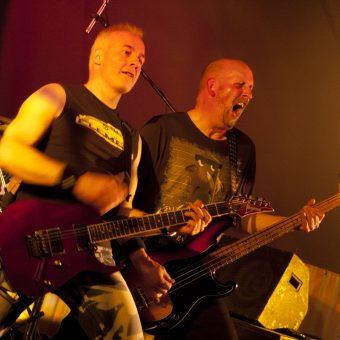 Neil and Richard on stage.