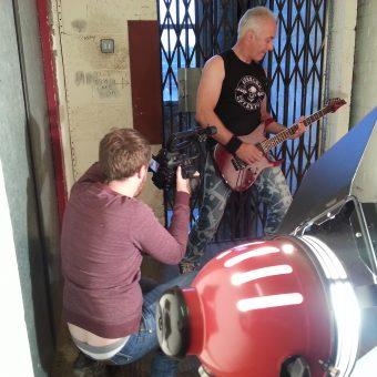 Sam Fenton filming Neil.