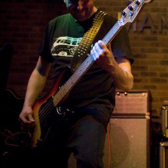 Richard playing bass.