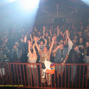 The crowd at No Bull 2013, cheering.