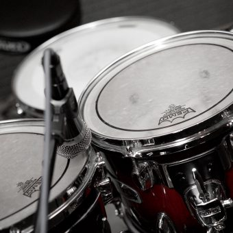 The drum kit, close up.