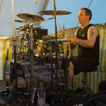 Phil drumming.