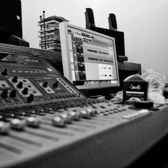 Neil Treppas' mixing desk.