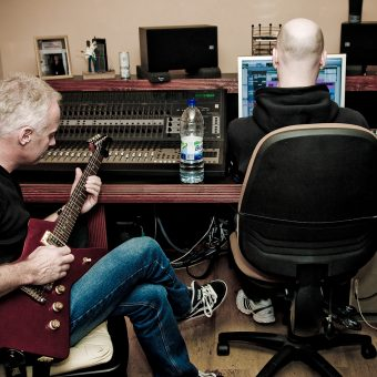 Neil Hughes and Neil Treppas in the studio.