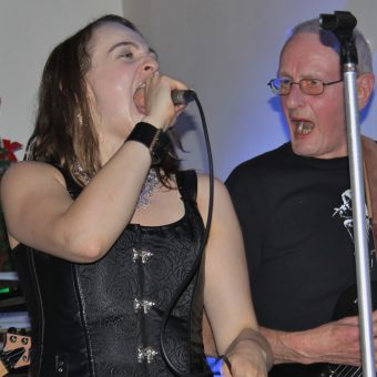 Ann and Rocker belting out some vocals!