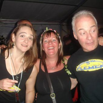 Ann, Tracey and Neil at Rock The Lakes music festival.