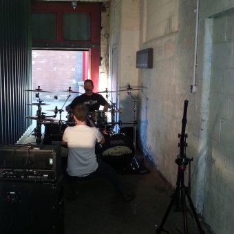 Sam Fenton filming Phil.