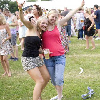 The crowd at Styal Beer Festival 2013.