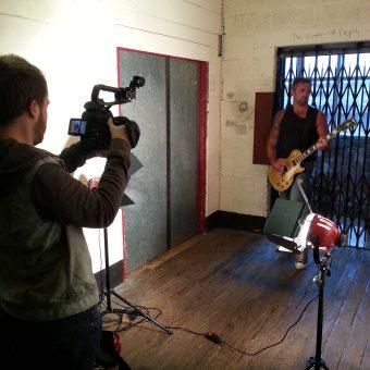 Sam Fenton filming Alan.