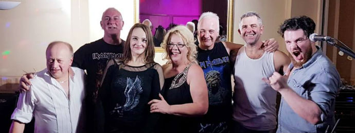 (Left to right) Pete, Russell, Ann, Jane, Neil, Alan and Aaron at Jane and Russell's wedding - 6 October 2018.